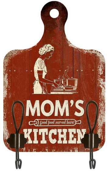 Appendino cucina 2 ganci mom kitchen